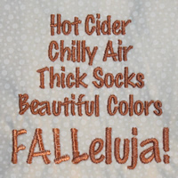 Hot Cider Chilly Air Thick Socks Beautiful Colors FALLleluja!