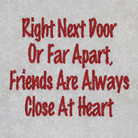 Right Next Door Or Far Apart Friends Are Always Close At Heart